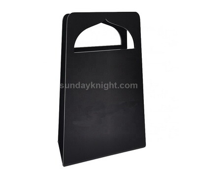 Portable acrylic magazine holder