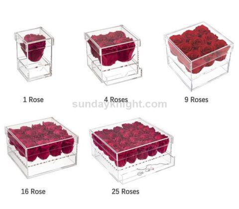 SKAB-183-1 Acrylic flower rose box wholesale