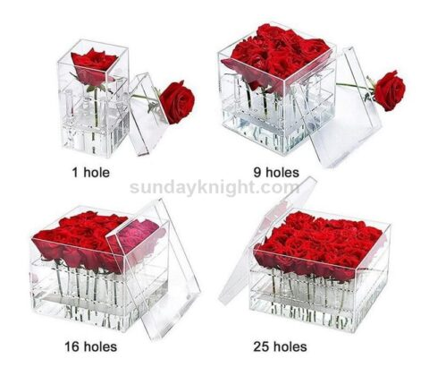 Acrylic flower rose box wholesale