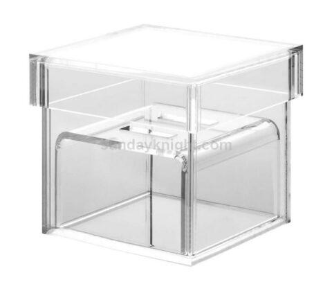 Wholesale luxury clear acrylic wedding ring box