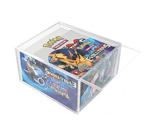Pokemon ETB Magnetic lid box Acrylic Elite Trainer Box Protector ETB box