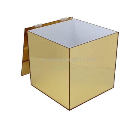 Gold mirrored storage box