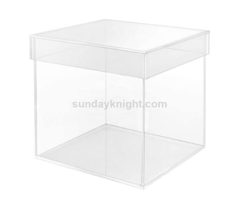 SKAB-188-1 Acrylic Cube Display 5 Sided Box With Lid