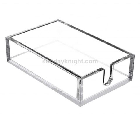 Custom acrylic guest towel holder flat napkin holders