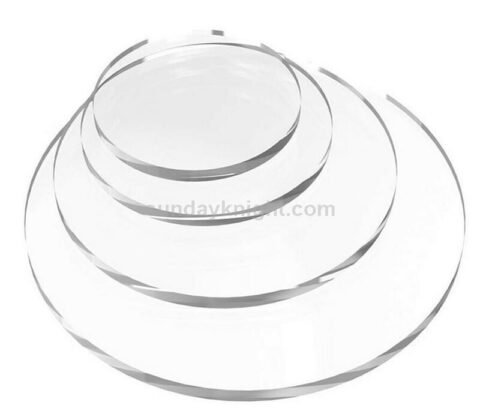 Customized cake safe clear acrylic round circle discs for cake decoration