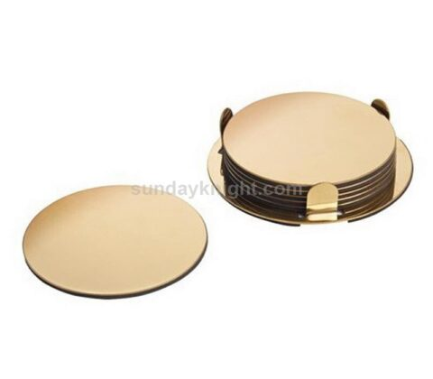custom gold mirrored acrylic coaster