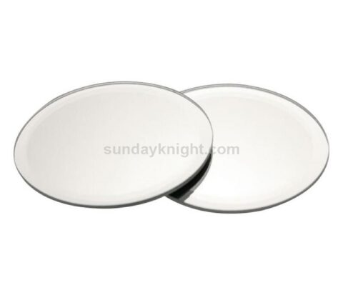 custom silver mirrored acrylic coaster