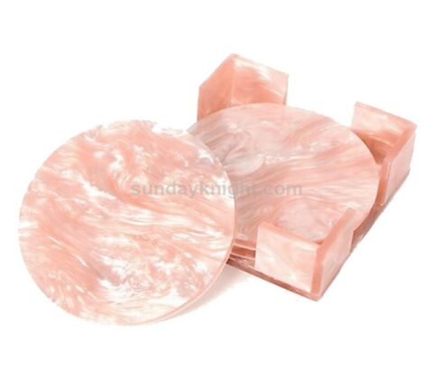 Pink Marble Acrylic Coaster