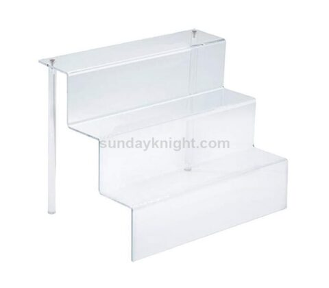 Countertop 3 step POP figures riser stand shelf acrylic tiered display