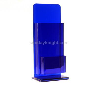 Custom table top colored acrylic brochure holder