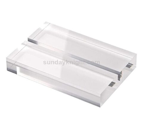 Factory Customize Clear Acrylic Base Stand With Slot