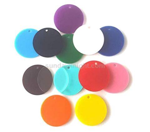 round perspex discs