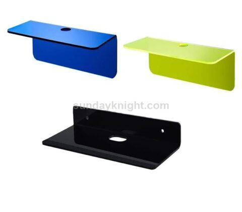 Color acrylic floating shelf