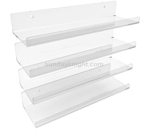 Acrylic Floating Wall Ledges Display Shelves Invisible Spice Racks