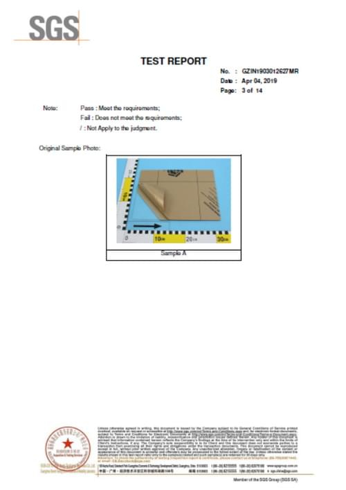SGS test report of acrylic sheets-3