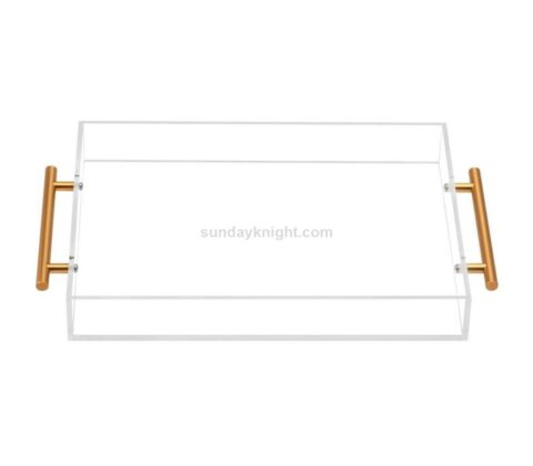 SKAT-132-2 Custom lucite acrylic serving tray with handles wholesale