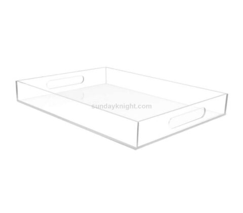 SKAT-133-1 Custom large lucite acrylic serving tray with handles wholesale