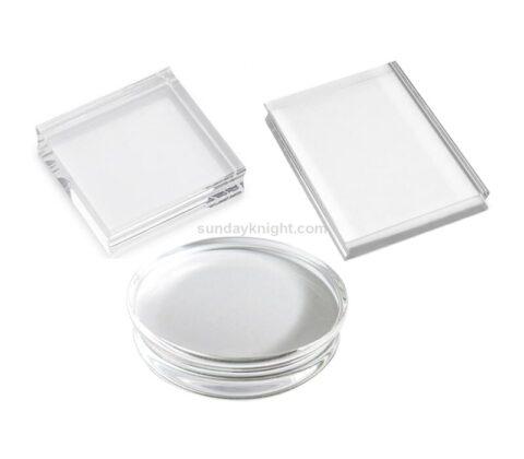 Custom Round Clear Acrylic Block Rectangle Stamp Blocks Wholesale