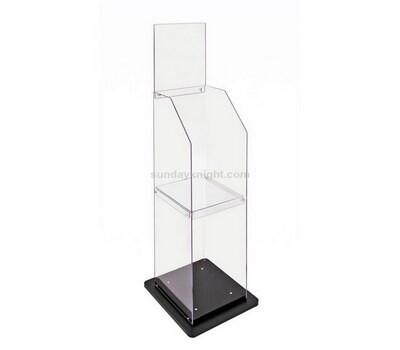Custom acrylic book stand holder rack