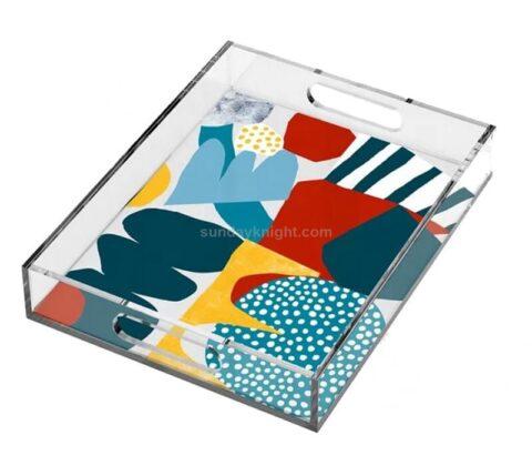 SKAT-134-1 Personalized Custom Printed Pattern Acrylic Decorative Tray