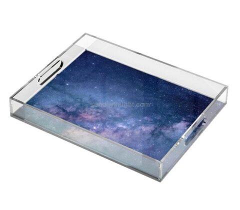 SKAT-134-3 Personalized Custom Printed Pattern Acrylic Decorative Tray