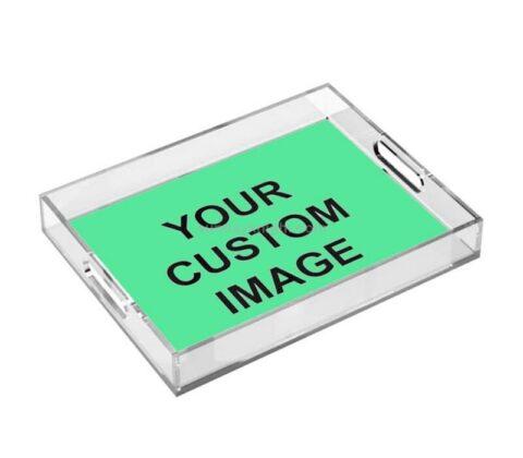 Personalized Custom Printed Pattern Acrylic Decorative Tray