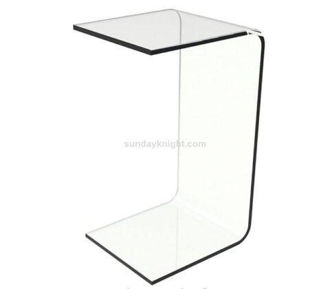 Custom clear acrylic end table