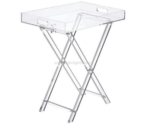 Custom Furniture Acrylic Folding Tray Table Wholesale