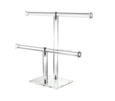 Acrylic 2 Tier T-bar Jewelry Bracelet Display Holder Stand