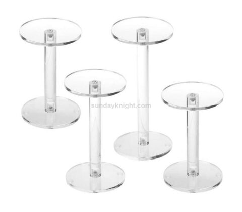 Clear Round Acrylic Display Pedestal Riser Stands Wholesale