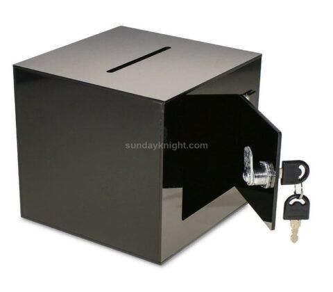 SKAB-193-1 Acrylic Donation Box with Rear Open Door Wholesale