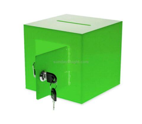 SKAB-193-2 Acrylic Donation Box with Rear Open Door Wholesale