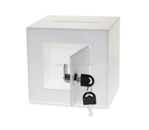 SKAB-193-3 Acrylic Donation Box with Rear Open Door Wholesale
