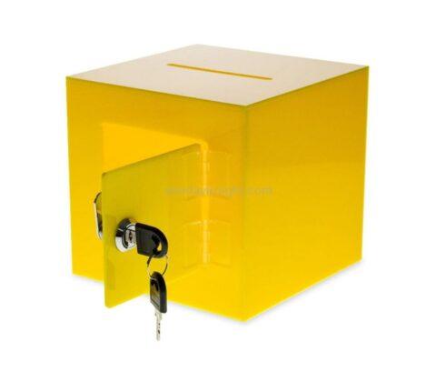 SKAB-193-5 Acrylic Donation Box with Rear Open Door Wholesale