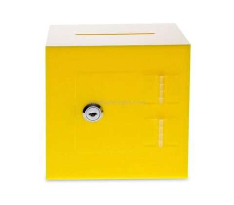SKAB-193-6 Acrylic Donation Box with Rear Open Door Wholesale