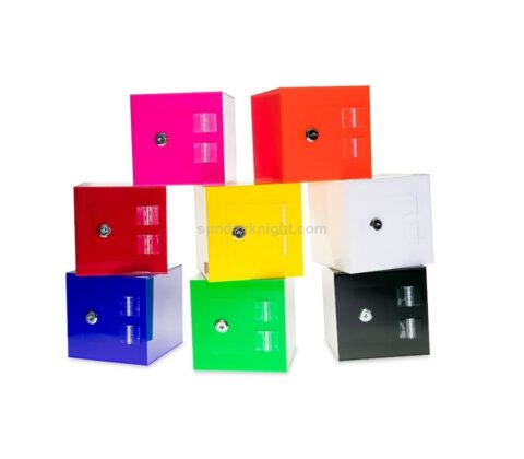 Acrylic Donation Box with Rear Open Door Wholesale