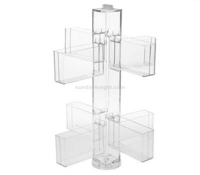 Free standing floor clear acrylic brochure holder wholesale