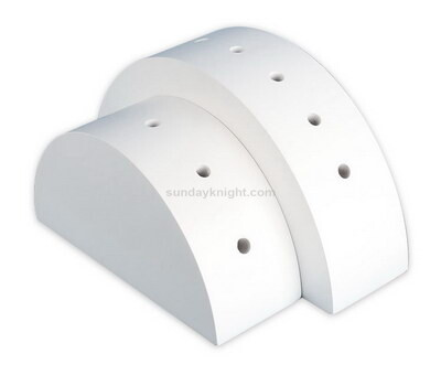 White acrylic half round lollipop display stand wholesale