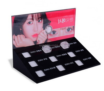 Custom acrylic contact lenses case display stand wholesale