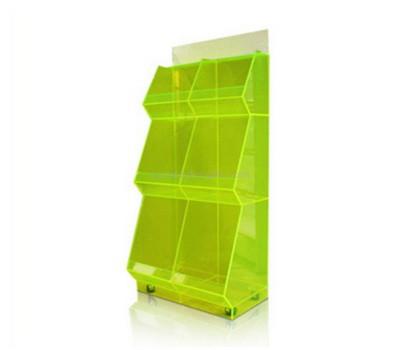 Custom acrylic display shelf rack with castor